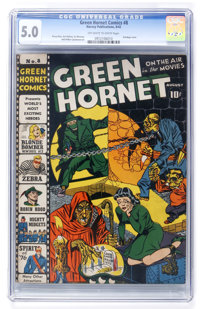 Green Hornet Comics #8 (Harvey, 1942) CGC VG/FN 5.0 Off-white to white pages
