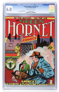 Green Hornet Comics #3 (Helnit, 1941) CGC FN 6.0 Off-white to white pages