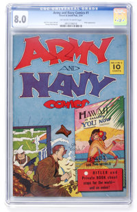 Army and Navy Comics #1 (Street & Smith, 1941) CGC VF 8.0 Off-white to white pages