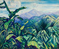Fine Art - Painting, American:Modern  (1900 1949)  , ELIZABETH GRANDIN (American, 1889-1970). Tropical Palms,1916. Oil on canvas. 30 x 36 inches (76.2 x 91.4 cm). Signed an...