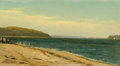 Fine Art - Painting, American:Antique  (Pre 1900), PROPERTY OF A PRIVATE TEXAS COLLECTOR. ALFRED THOMPSON BRICHER(American, 1837-1908). Beach and Bay with Sailboats. Oi...