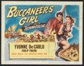 """Movie Posters:Action, Buccaneer's Girl (Universal International, 1950). Title Lobby Card(11"""" X 14"""") and Lobby Cards (4) (11"""" X 14""""). Action.. ... (Total: 5Items)"""