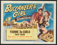 "Buccaneer's Girl (Universal International, 1950). Title Lobby Card (11"" X 14"") and Lobby Cards (4) (11"" X..."