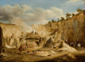 Fine Art - Painting, American:Antique  (Pre 1900), WILLIAM KIDD (British, 1790-1863). Craigleith Quarry. Oil oncanvas. 12-1/2 x 16-1/2 inches (31.8 x 41.9 cm). Signed low...