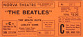 Music Memorabilia:Tickets, Beatles and Beach Boys Closed Circuit TV Concert Film Ticket. ...