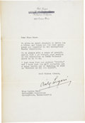 Movie/TV Memorabilia:Autographs and Signed Items, Bela Lugosi Signed Letter (c. 1931-1932)....