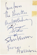 Music Memorabilia:Autographs and Signed Items, Set of Beatles Signatures Done by Paul McCartney....