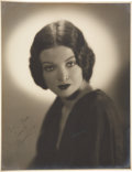 Movie/TV Memorabilia:Autographs and Signed Items, Myrna Loy Signed Photo....