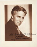 Movie/TV Memorabilia:Autographs and Signed Items, Charlie Chaplin Signed Photo....
