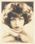 Movie/TV Memorabilia:Autographs and Signed Items, Clara Bow Signed Photo....