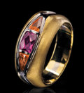 "Gems:Jewelry, THE ""SUITCASE"" RING: PINK SAPPHIRE & ORANGE SPESSARTITE . ..."