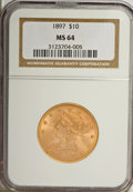 Liberty Eagles, 1897 $10 MS64 NGC....