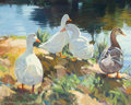 Fine Art - Painting, American:Contemporary   (1950 to present)  , NICHOLAS S. FIRFIRES (American, 1917-1990). Ducks. Oil oncanvas. 16 x 20 inches (40.6 x 50.8 cm). Signed lower left:...