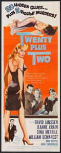 "Movie Posters:Mystery, Twenty Plus Two (Allied Artists, 1961). Insert (14"" X 36"").Mystery.. ..."