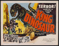 "Movie Posters:Science Fiction, King Dinosaur (Lippert, 1955). Half Sheet (22"" X 28""). ScienceFiction.. ..."