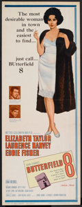 "Movie Posters:Drama, Butterfield 8 (MGM, 1960). Insert (14"" X 36""). Drama.. ..."