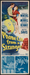 "Movie Posters:Drama, Phone Call from a Stranger (20th Century Fox, 1952). Insert (14"" X36""). Drama.. ..."