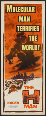 """The H-Man (Columbia, 1959). Insert (14"""" X 36""""). Science Fiction"""