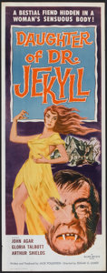"Movie Posters:Horror, Daughter of Dr. Jekyll (Allied Artists, 1957). Insert (14"" X 36"").Horror.. ..."