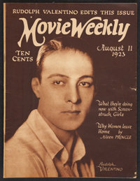 "Movie Weekly (August, 1923). Magazine (32 Pages, 9.25"" X 12.25"")"