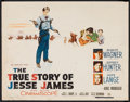 "Movie Posters:Western, The True Story of Jesse James (20th Century Fox, 1957). Half Sheet(22"" X 28""). Western.. ..."