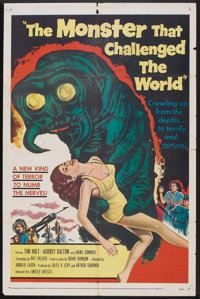 "The Monster that Challenged the World (United Artists, 1957). One Sheet (27"" X 41""). Science Fiction"