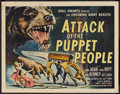 """Movie Posters:Science Fiction, Attack of the Puppet People (American International, 1958). HalfSheet (22"""" X 28""""). Science Fiction.. ..."""