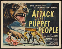 "Attack of the Puppet People (American International, 1958). Half Sheet (22"" X 28""). Science Fiction"