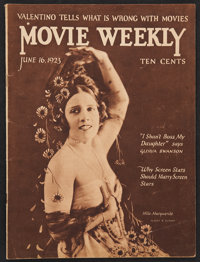 "Movie Weekly (June, 1923). Magazine (32 Pages, 9.25"" X 12"")"