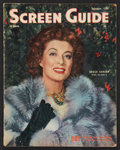 "Movie Posters:Miscellaneous, Screen Guide (December, 1944). Magazine (78 Pages, 10.25"" X13.25""). ..."