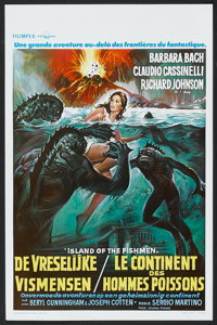 "Something Waits in the Dark (Excelsior, 1981). Belgian (14"" X 21.25"") Also Known As Island of the Fishmen. Hor..."