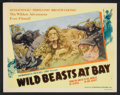 "Movie Posters:Documentary, Wild Beasts at Bay Lot (Cosmopolitan, 1947). Lobby Card Set of 8 (11"" X 14"") and Stills (5) (8"" X 10""). Documentary.. ... (Total: 13 Items)"
