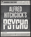 """Movie Posters:Hitchcock, Psycho (Paramount, 1960). Pressbook (Multiple Pages) (12.25"""" X15.25""""). Hitchcock.. ..."""