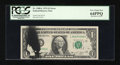 Error Notes:Ink Smears, Fr. 1908-L $1 1974 Federal Reserve Note. PCGS Very Choice New64PPQ.. ...