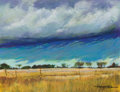 Texas:Early Texas Art - Drawings & Prints, MICHAEL ETIE (American, b. 1948). Storm Coming - Crawford TexasRanch and Crawford Texas Ranch. Pastel on panel. 10 ...(Total: 2 Items)