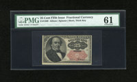 Fr. 1309 25c Fifth Issue PMG Uncirculated 61
