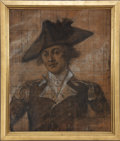"Antiques:Decorative Americana, John Trumbull: A Large Charcoal Sketch of Washington Aide Lt. Col.Robert Hanson Harrison, For Trumbull's Epic Painting ""The C..."