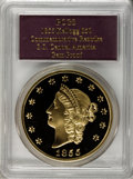 """S.S.C.A. Relic Gold Medals, """"1855 Kellogg & Co. Fifty"""" Gem Proof PCGS...."""