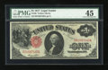 Fr. 36 $1 1917 Legal Tender PMG Choice Extremely Fine 45