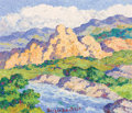Fine Art - Painting, American:Contemporary   (1950 to present)  , BIRGER SANDZÉN (American, 1871-1954). Colorado Stream, 1952.Oil on canvas. 10 x 12 inches (25.4 x 30.5 cm). Signed lowe...