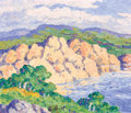 Fine Art - Painting, American:Contemporary   (1950 to present)  , PROPERTY OF A PRIVATE NEBRASKA COLLECTOR. BIRGER SANDZÉN (Swedish,1871-1954). Stevensons Lake, 1952. Oil on canvas. 1...