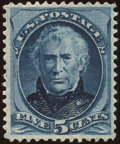 Stamps, 5c Blue (185),...