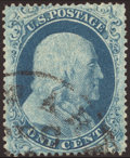 Stamps, 1c Blue, Type I (18), ...