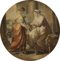 Fine Art - Painting, European:Antique  (Pre 1900), After ANGELICA KAUFFMANN (Swiss, 1741-1807). Peleus andThetis, circa 1786. Watercolor and graphite on paper. 12 x 12in...