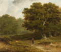 Fine Art - Painting, European:Antique  (Pre 1900), JAMES ARTHUR O'CONNOR (Irish, 1792-1841). Landscape, 1836.Oil on board. 7-1/2 x 8-1/2 inches (19.1 x 21.6 cm). Signed a...