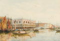 Works on Paper, THOMAS BUSH HARDY (British, 1842-1897). The Grand Canal, Venice, 1879. Watercolor on paper. 12-3/4 x 18-1/4 inches (32.4...