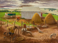 FRANCES PENNEY AVERY (American, 1910-2006) Bill Penney's Farm Oil on canvas 28 x 38 inches (71.1