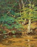 Fine Art - Painting, American:Modern  (1900 1949)  , WILLIAM JOHNSON BIXBEE (American, 1850-1921). On the SwiftRiver, Tamworth, NH. Oil on canvas. 20 x 16 inches (50.8 x40...