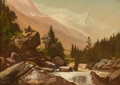 Fine Art - Painting, American:Antique  (Pre 1900), DEWITT CLINTON BOUTELLE (American, 1817-1884). MountainLandscape with Stream, 1882. Oil on canvas. 10-1/4 x 14 inches(...