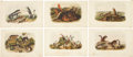 Antiques:Posters & Prints, John James Audubon. One Rat and Five Squirrel Prints (OctavoEdition). Six hand-colored lithographs from The Quadrupeds of...(Total: 6 Items)
